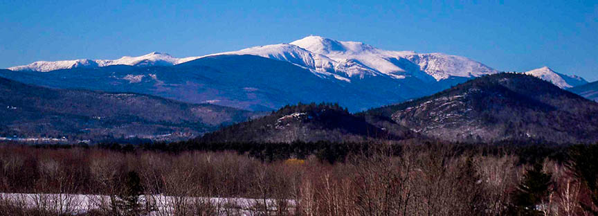 Mt. Washington and the Presidential Range from North Conway, NH